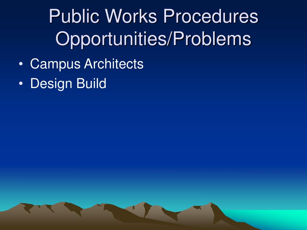 Public Works Procedures