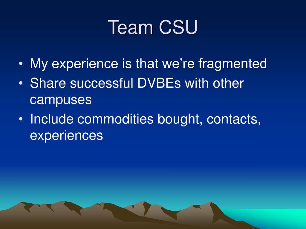 Team CSU