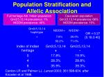population stratification and allelic association