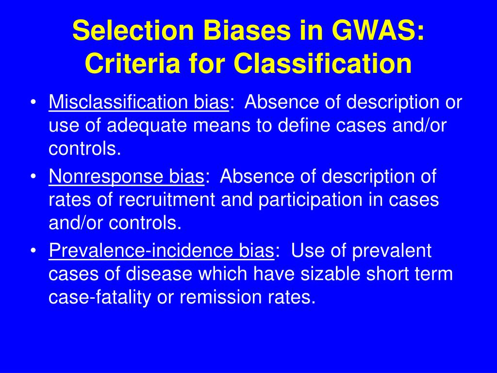 Selection Biases in GWAS: