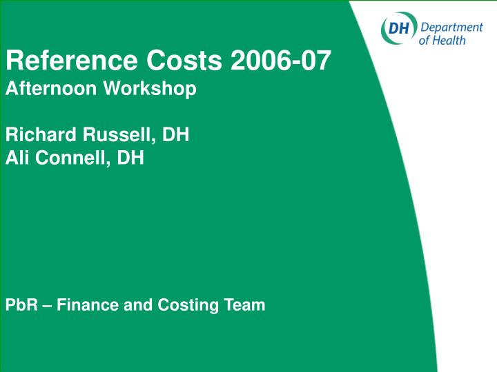 Reference Costs 2006-07