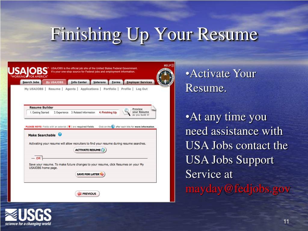 Finishing Up Your Resume