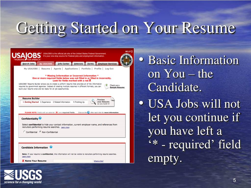 Getting Started on Your Resume