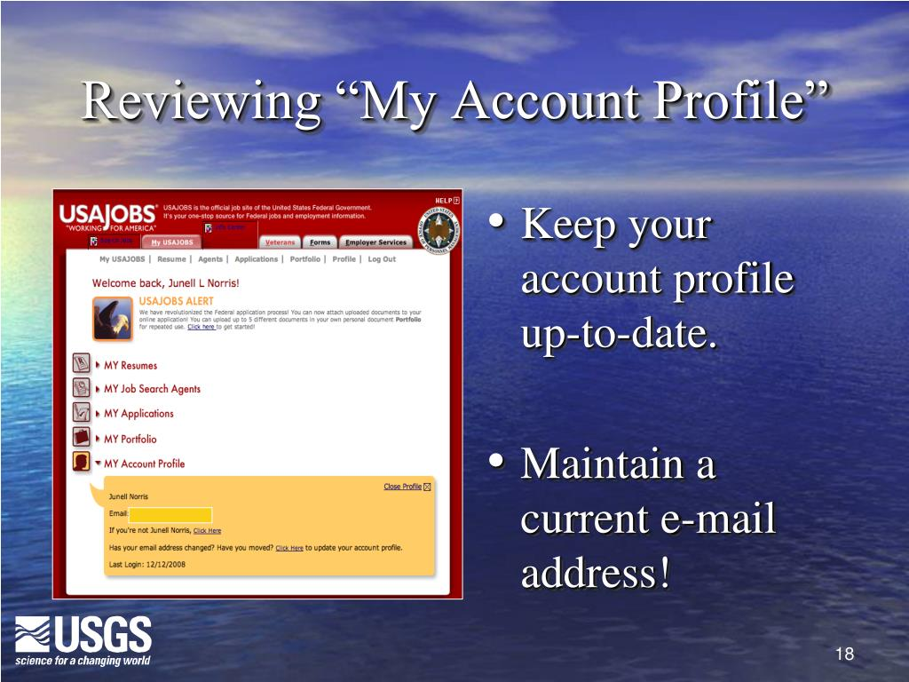 """Reviewing """"My Account Profile"""""""