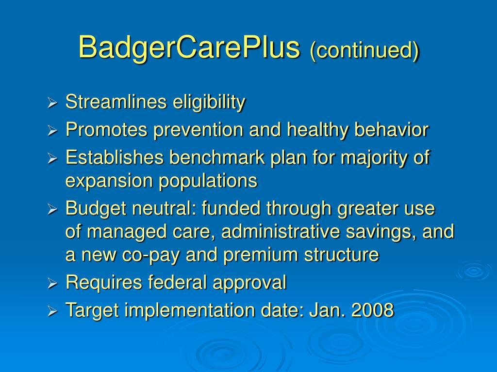 BadgerCarePlus