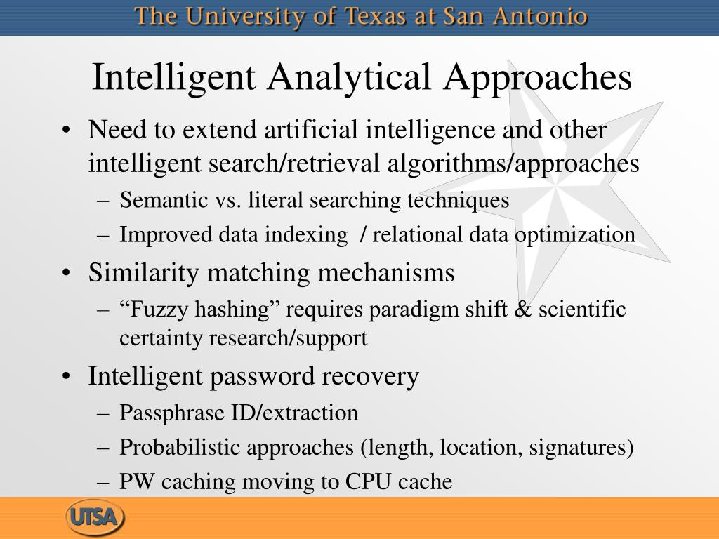 Intelligent Analytical Approaches