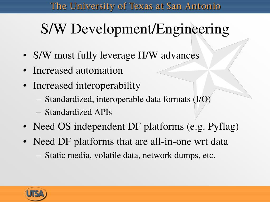 S/W Development/Engineering