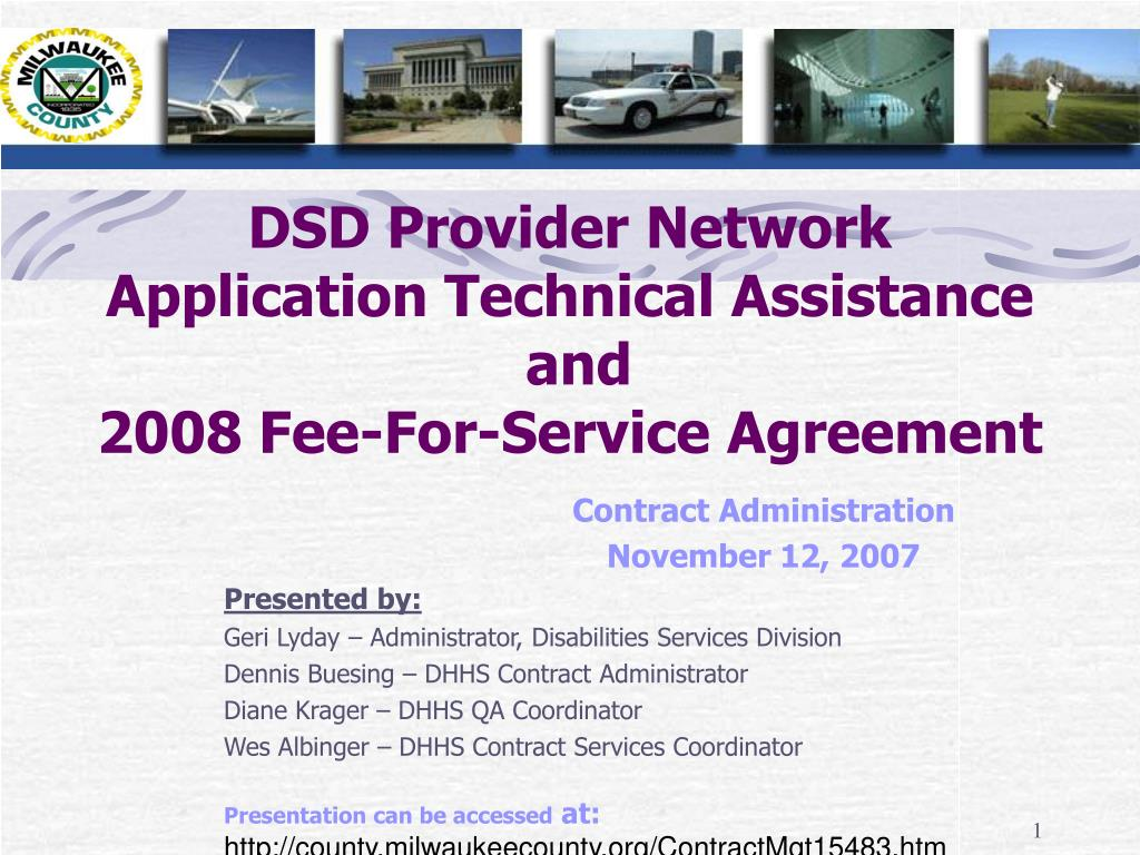 DSD Provider Network Application Technical Assistance