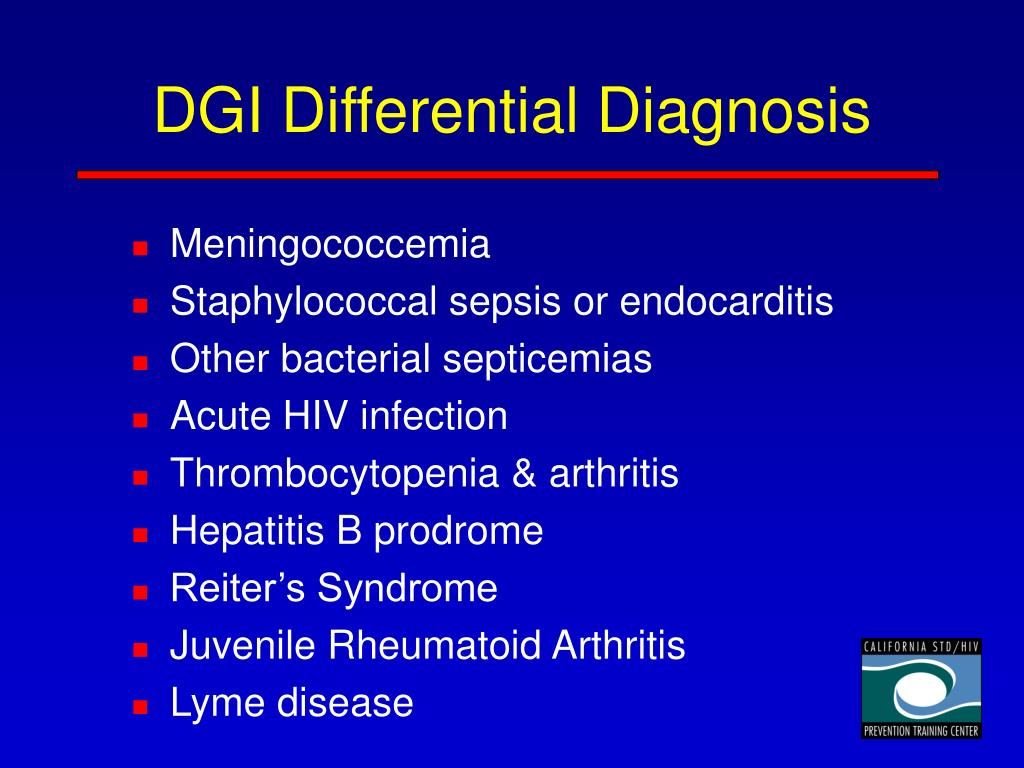 DGI Differential Diagnosis
