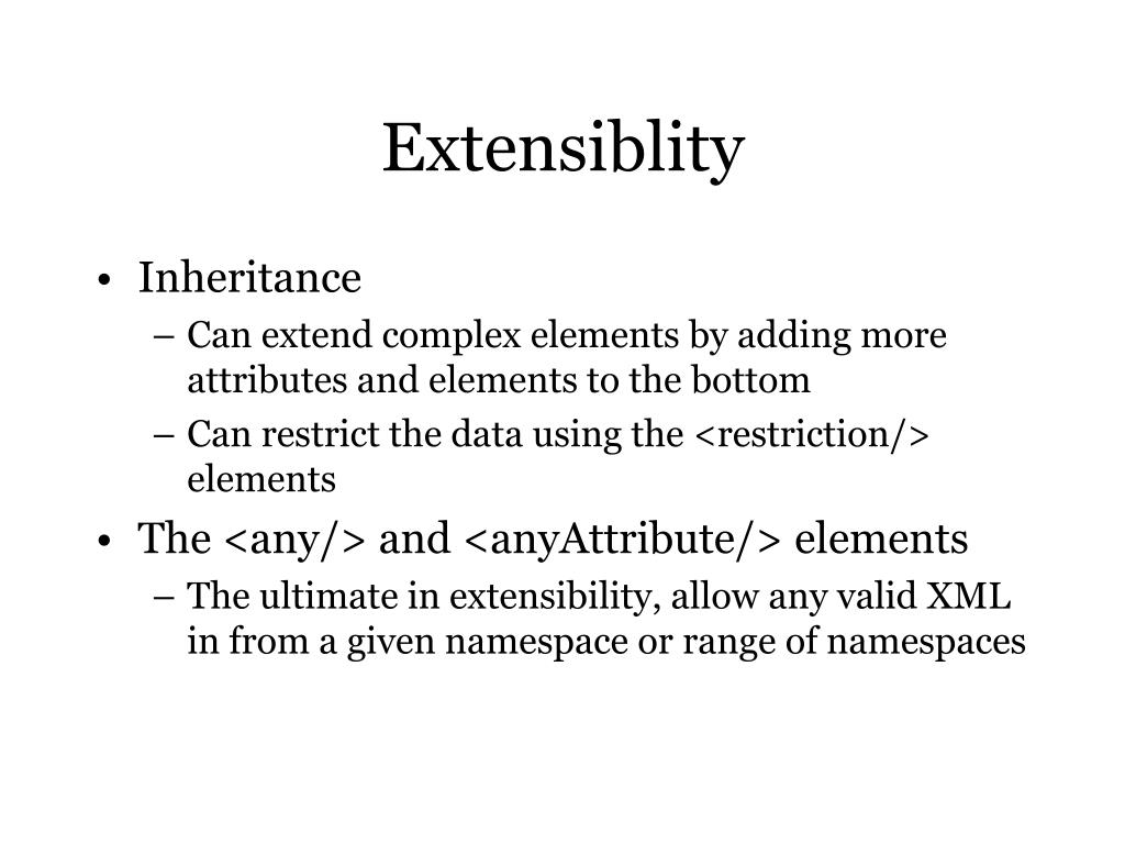 Extensiblity