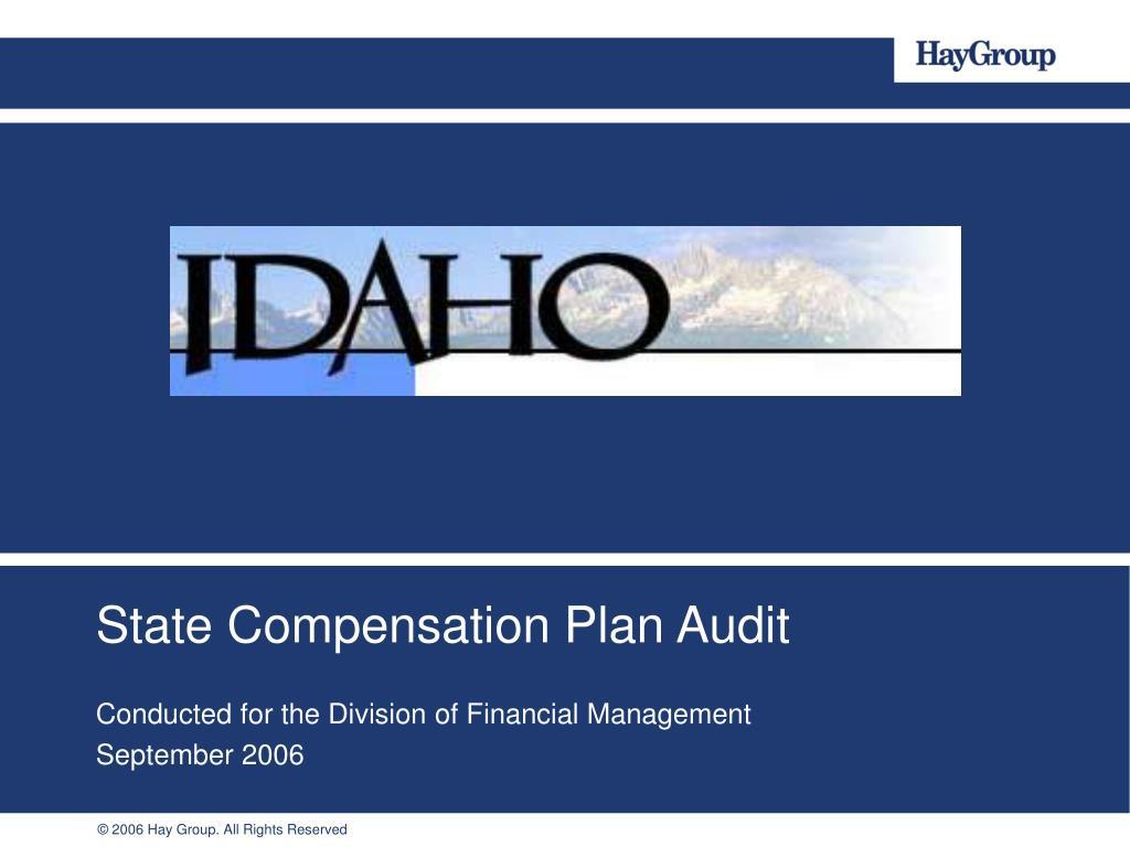 State Compensation Plan Audit