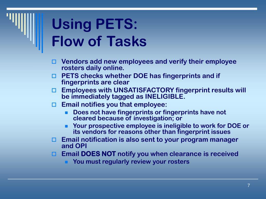 Using PETS: