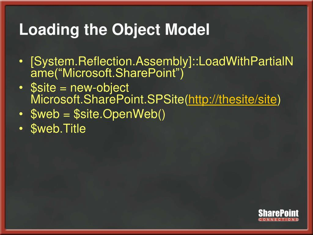 Loading the Object Model