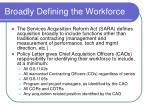 broadly defining the workforce