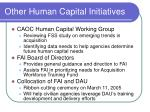 other human capital initiatives