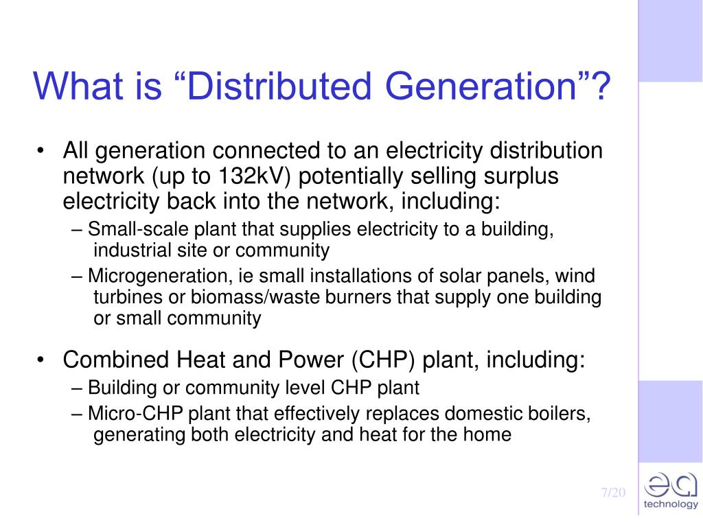 "What is ""Distributed Generation""?"