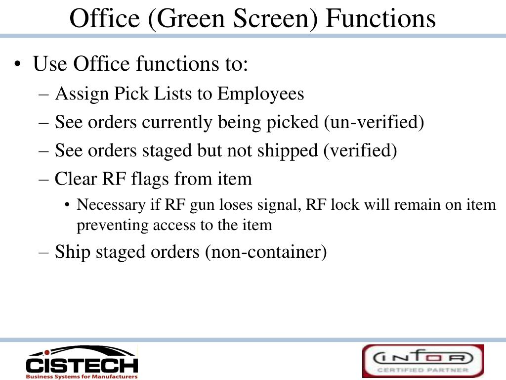 Office (Green Screen) Functions