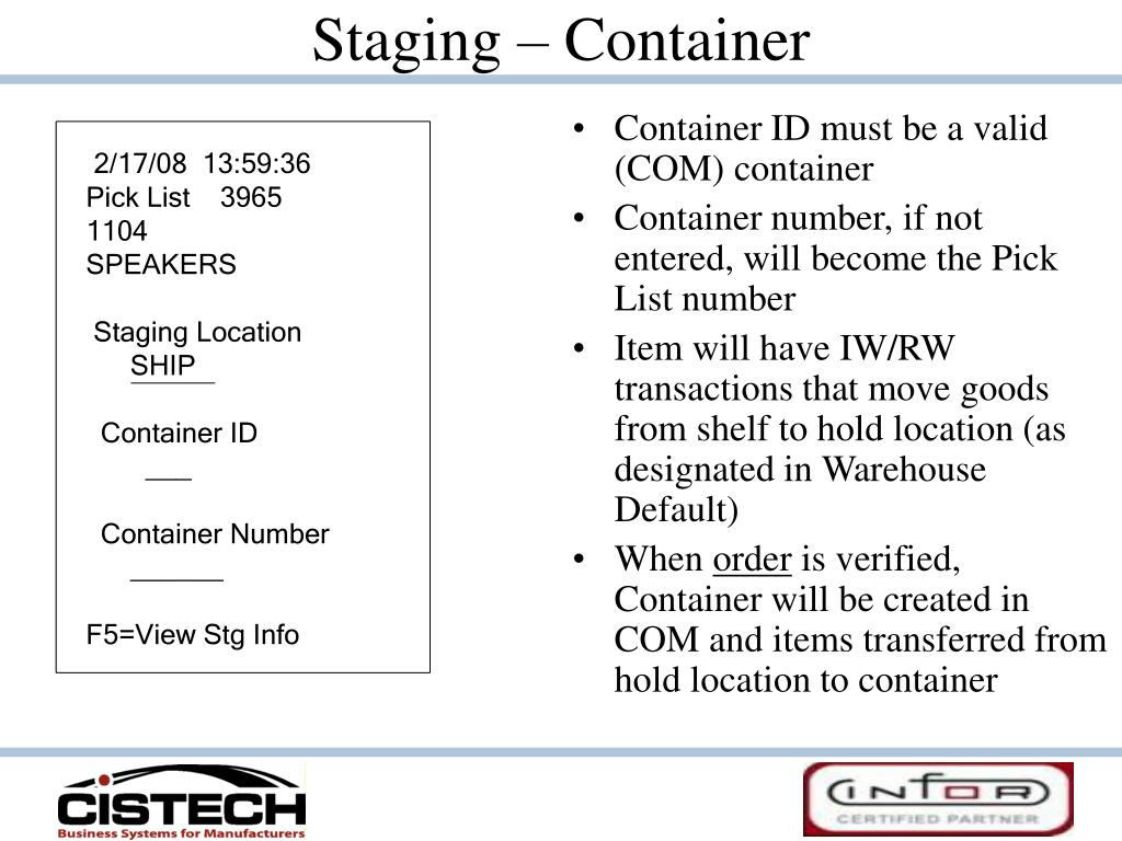 Staging – Container