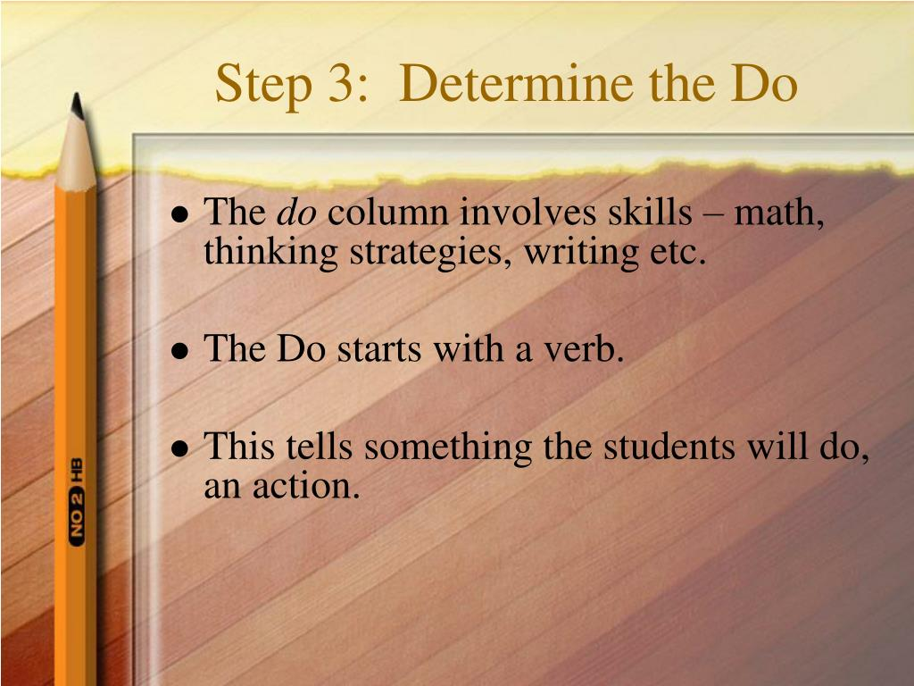 Step 3:  Determine the Do