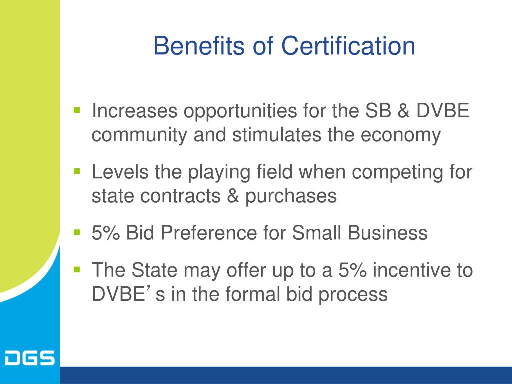Benefits of Certification