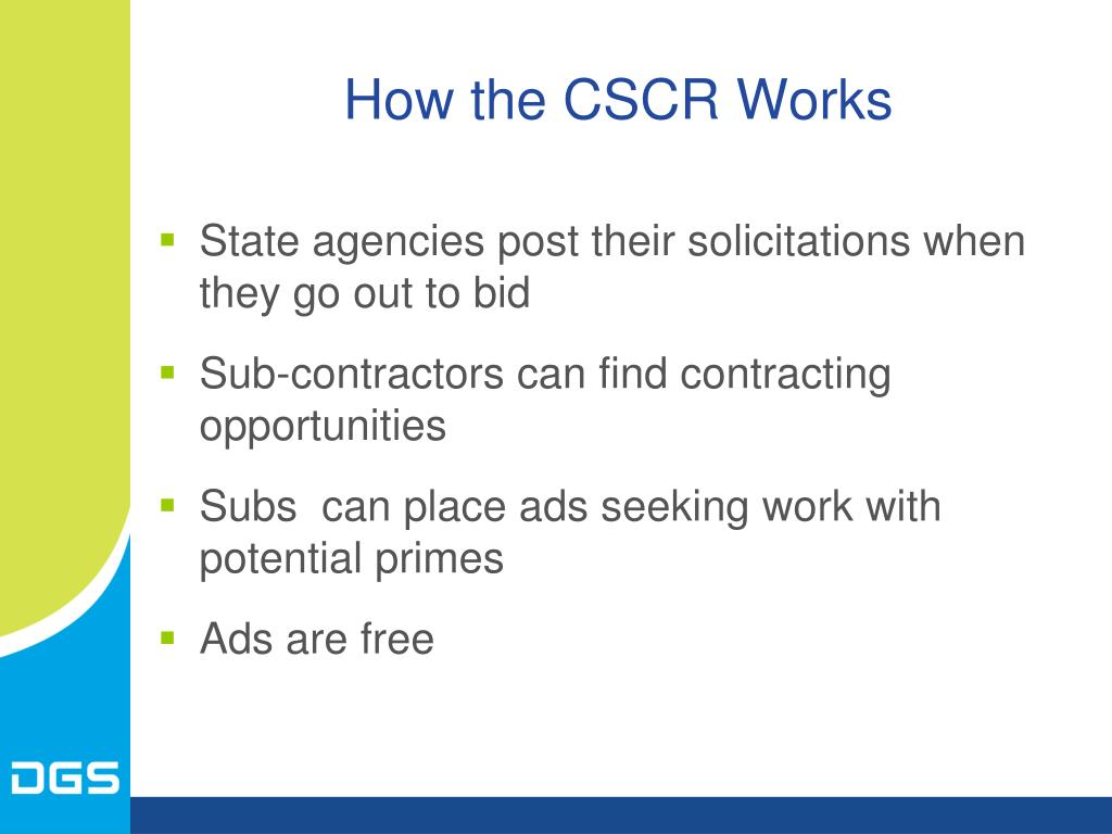 How the CSCR Works