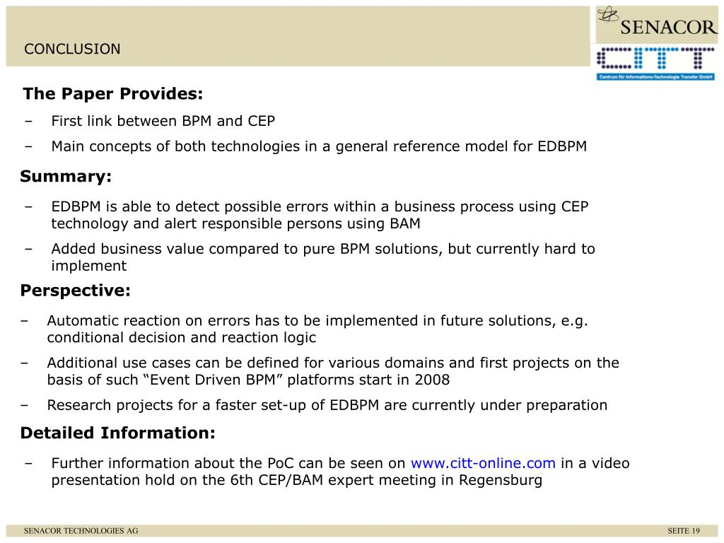 First link between BPM and CEP