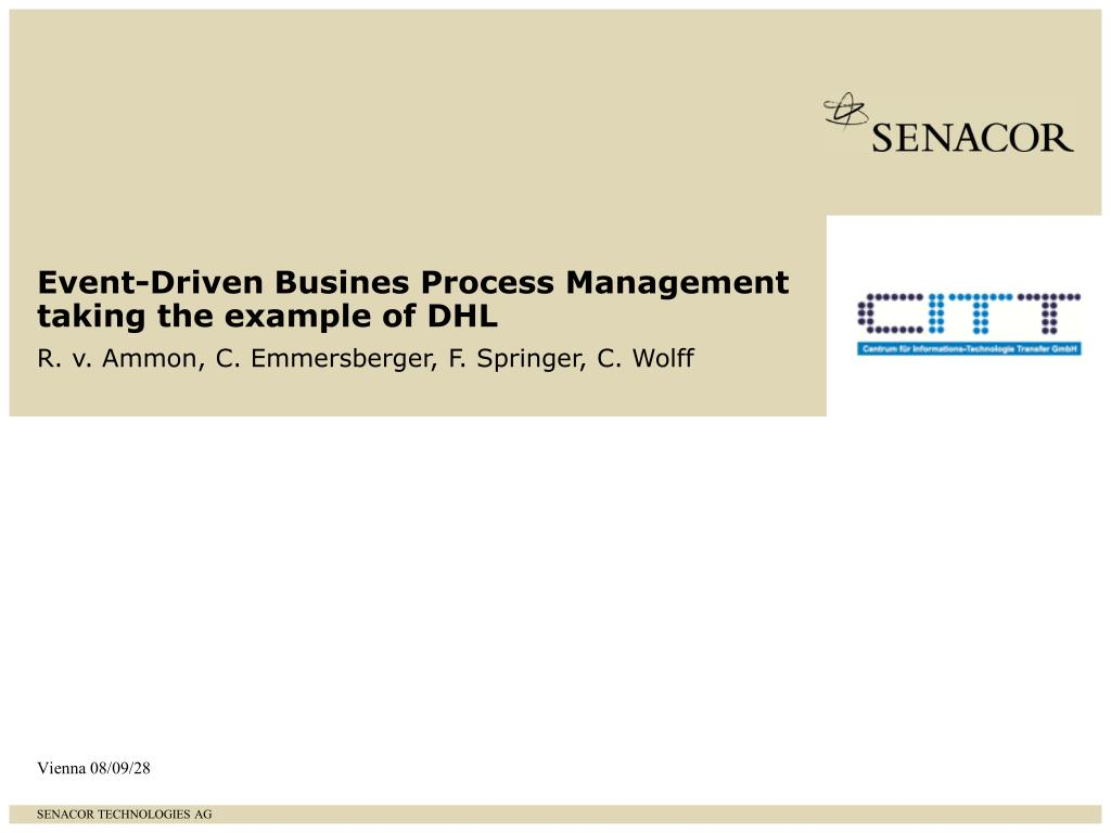 Event-Driven Busines Process Management taking the example of DHL