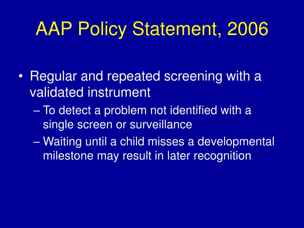AAP Policy Statement, 2006