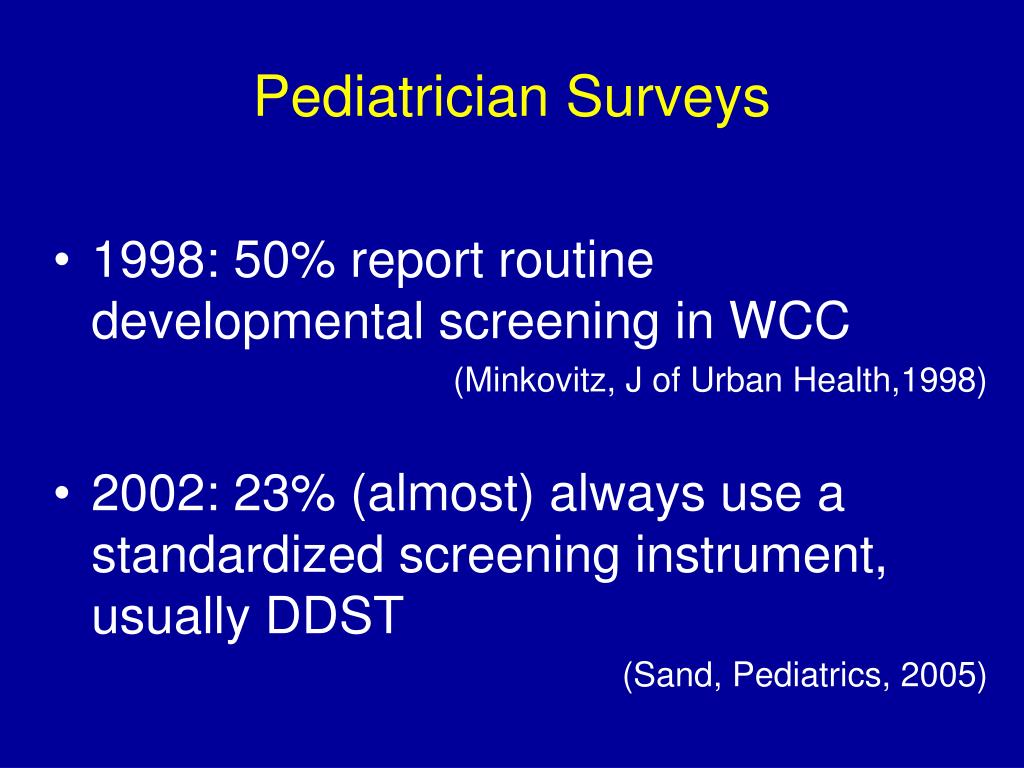 Pediatrician Surveys