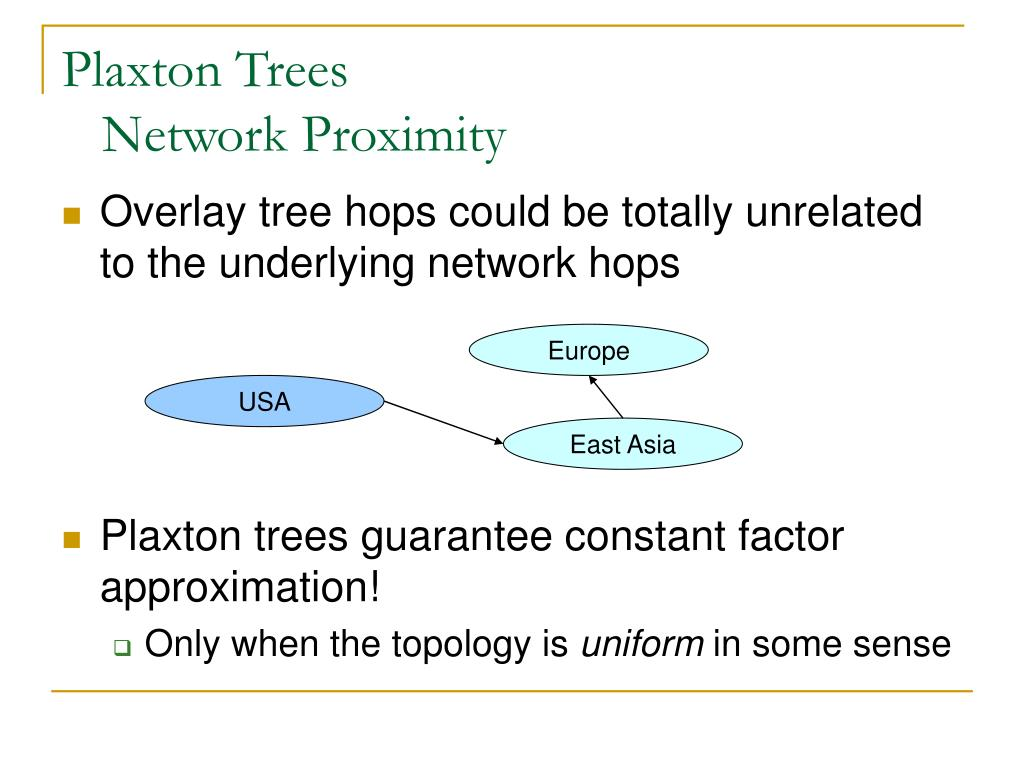 Plaxton Trees