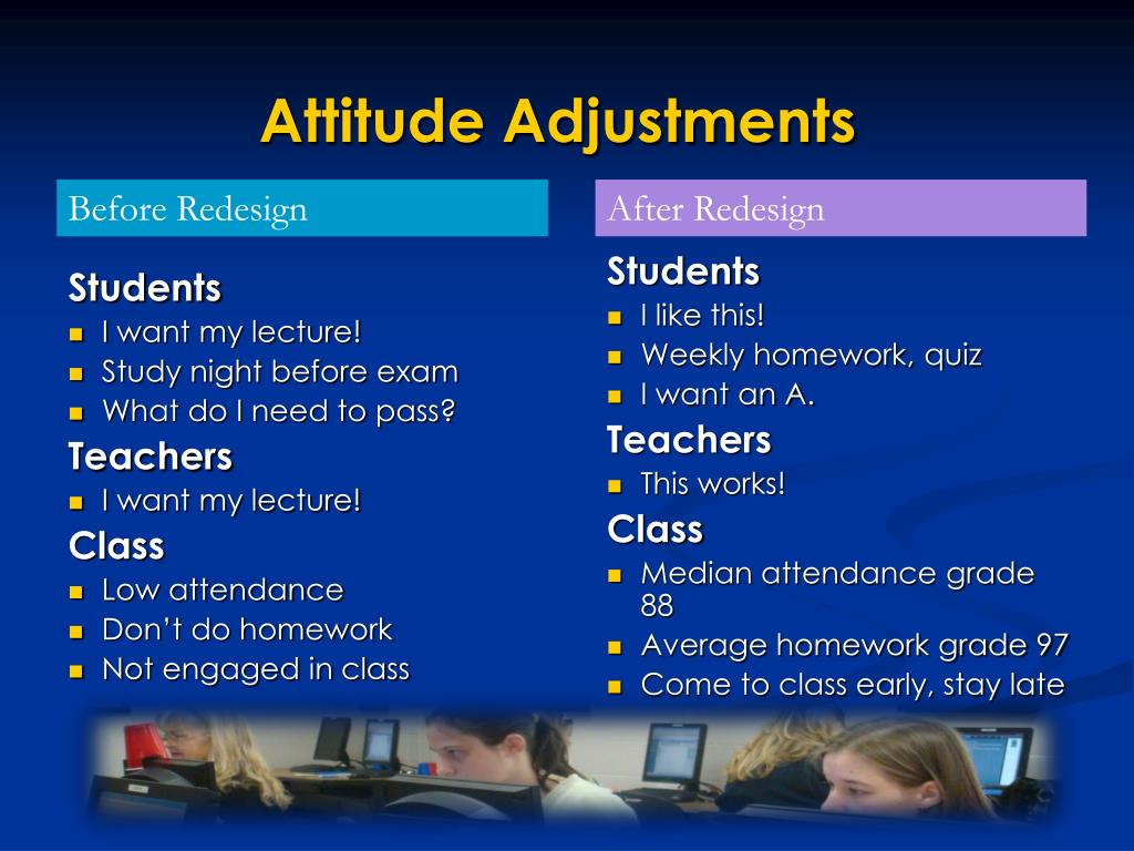 Attitude Adjustments