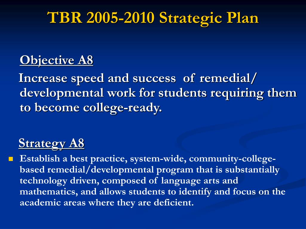 TBR 2005-2010 Strategic Plan
