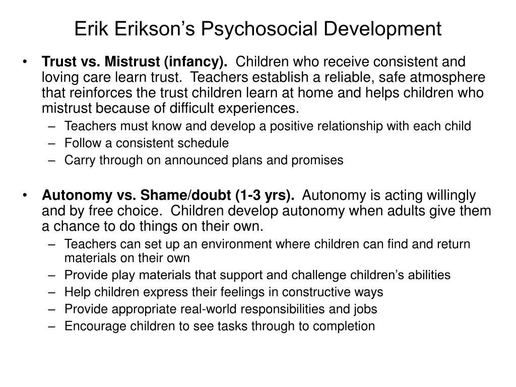 Erik Erikson's Psychosocial Development