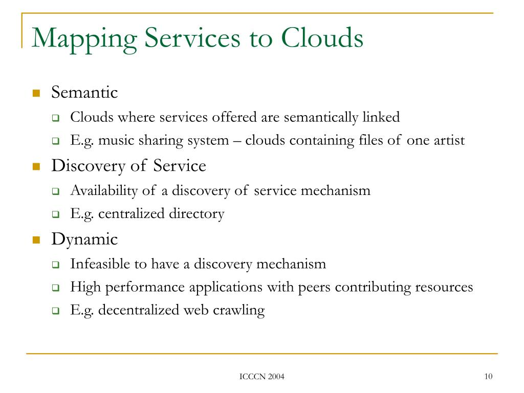 Mapping Services to Clouds