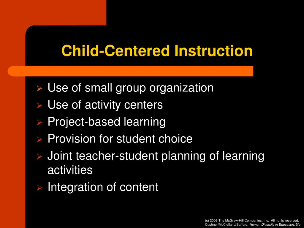 Child-Centered Instruction