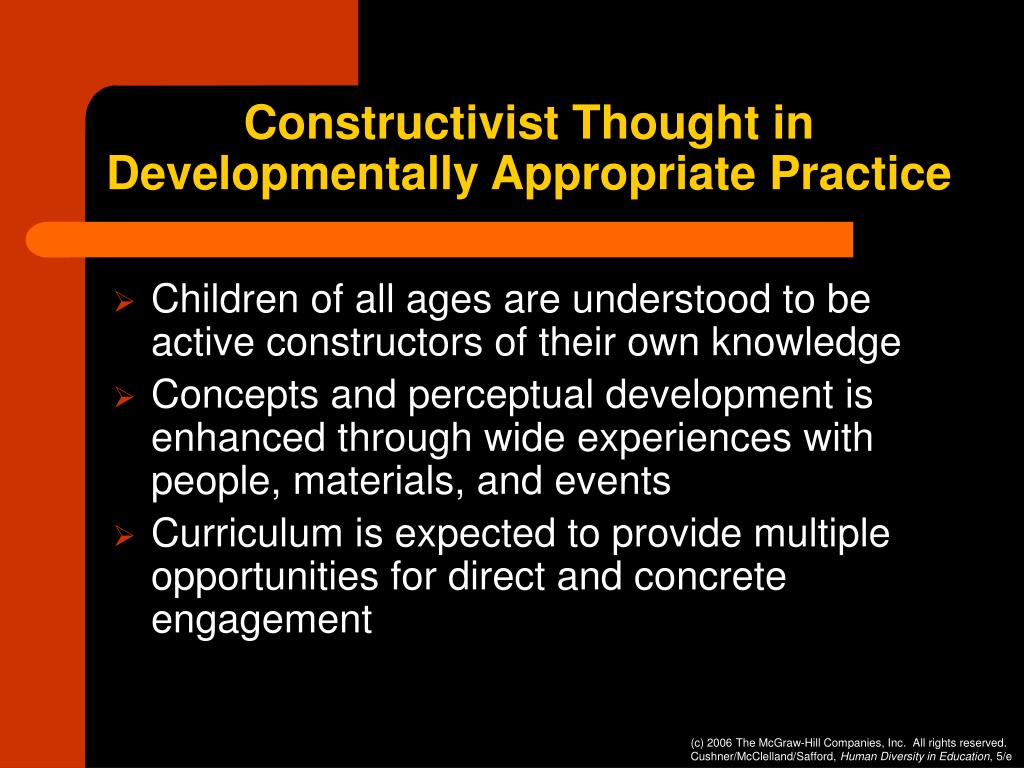 Constructivist Thought in Developmentally Appropriate Practice