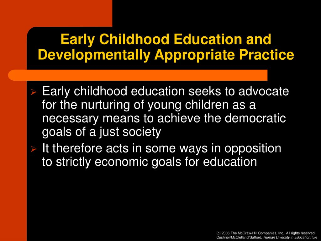 Early Childhood Education and Developmentally Appropriate Practice