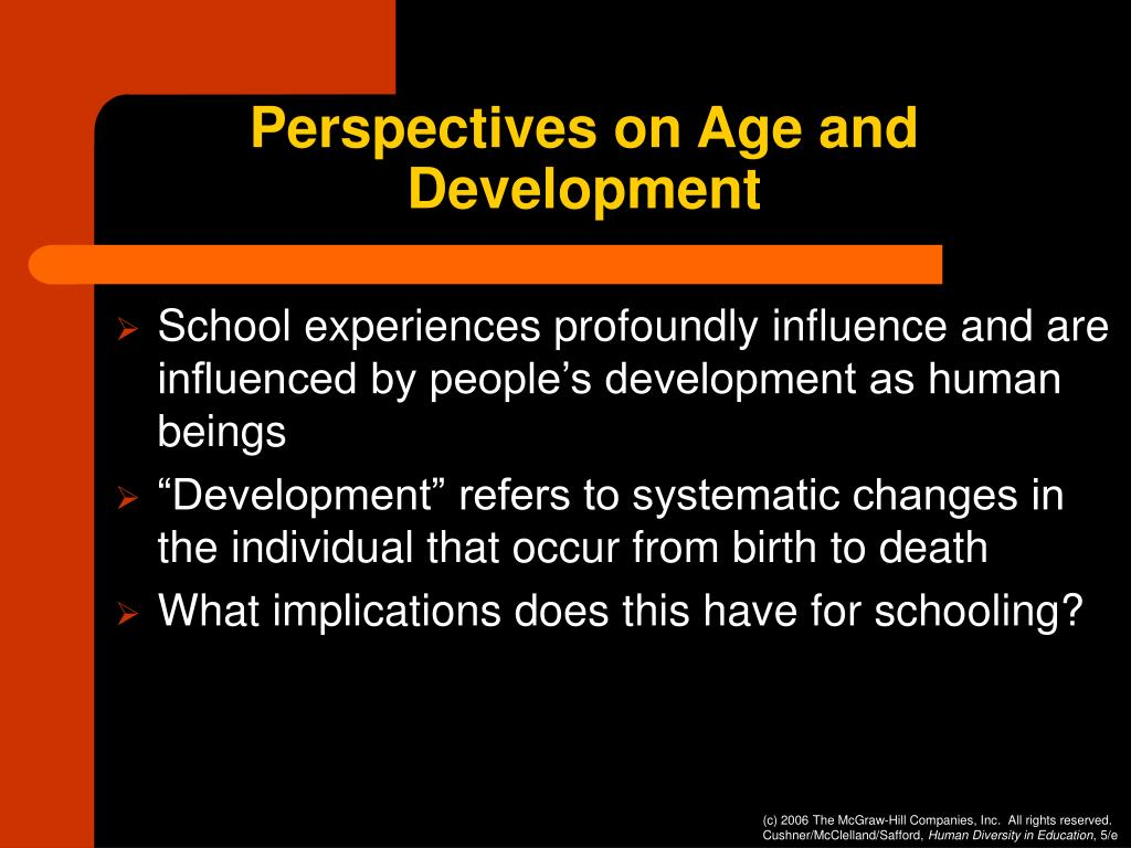 Perspectives on Age and Development