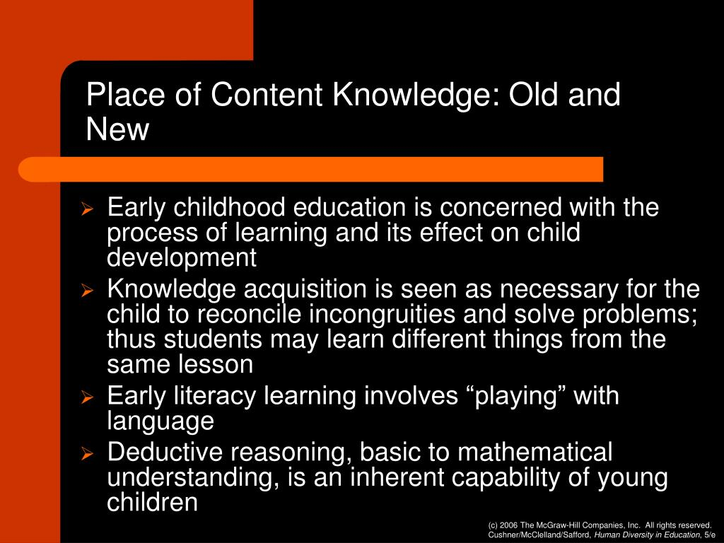 Place of Content Knowledge: Old and New