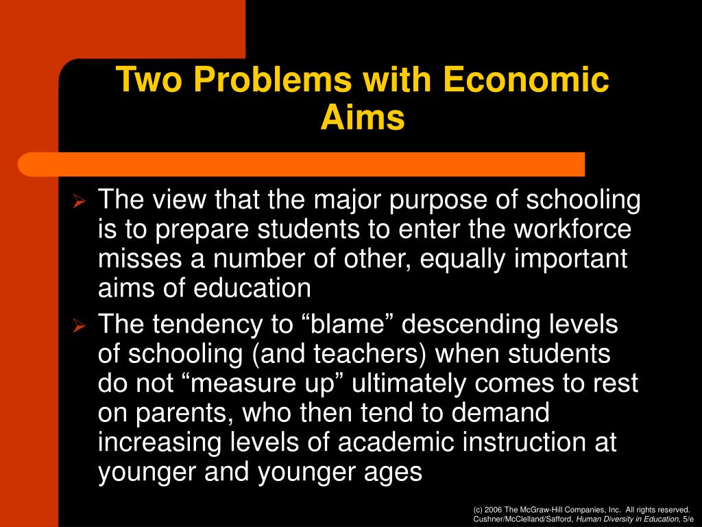 Two Problems with Economic Aims