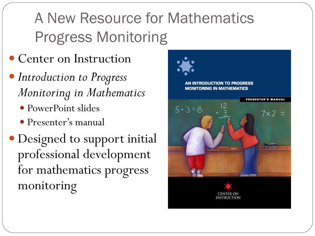 A New Resource for Mathematics Progress Monitoring
