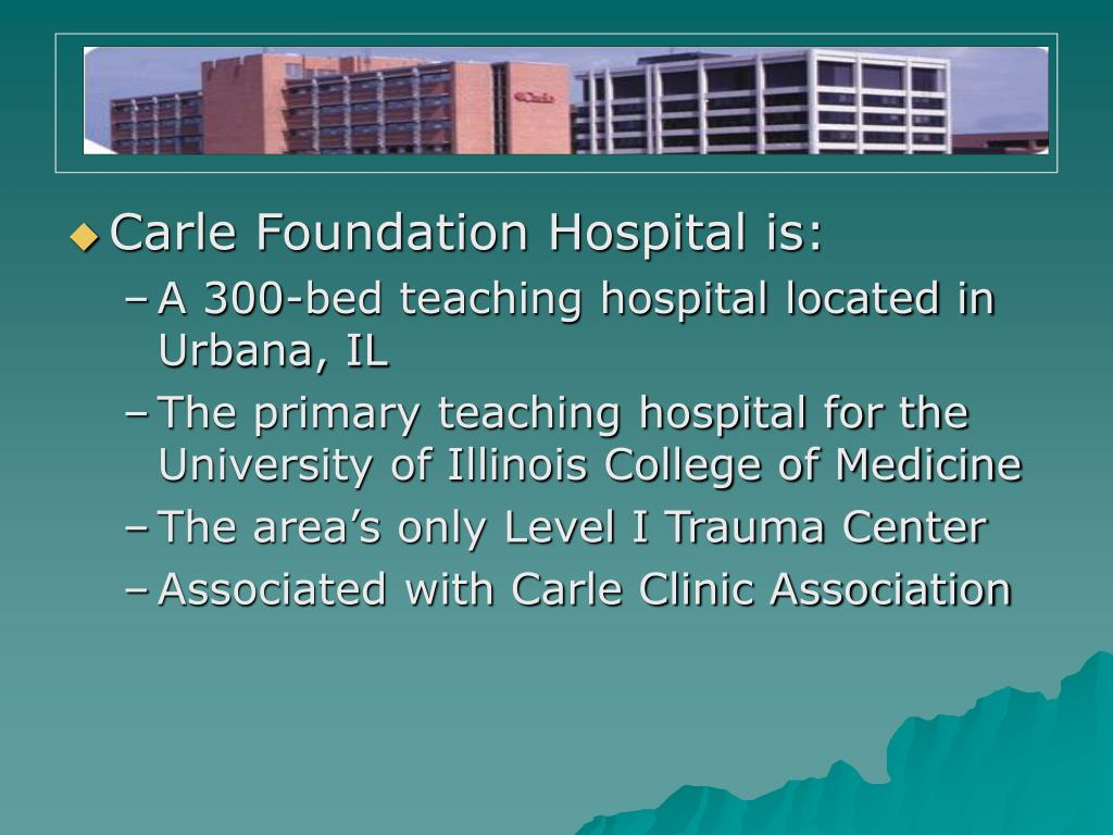 Carle Foundation Hospital is: