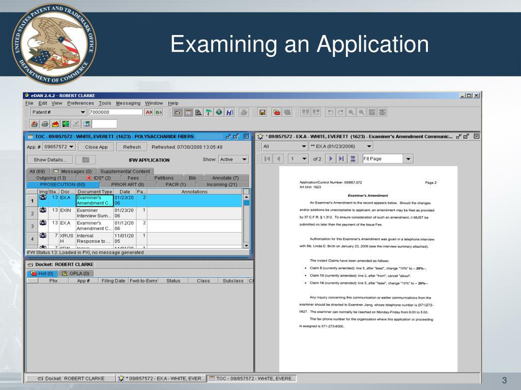 Examining an Application