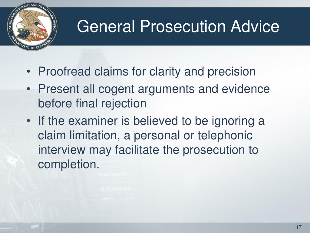 General Prosecution Advice