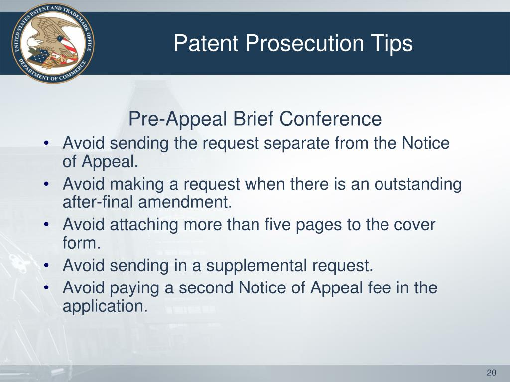 Patent Prosecution Tips