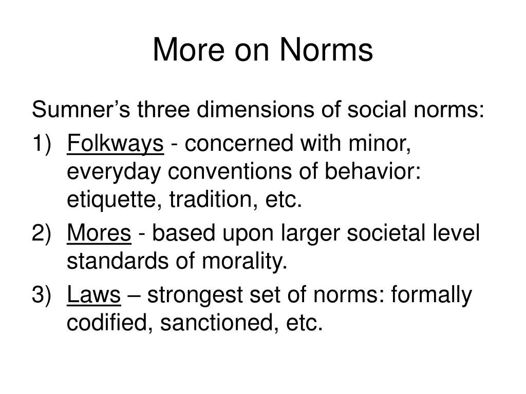 More on Norms