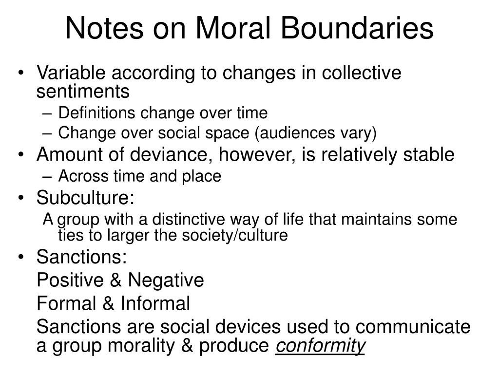 Notes on Moral Boundaries