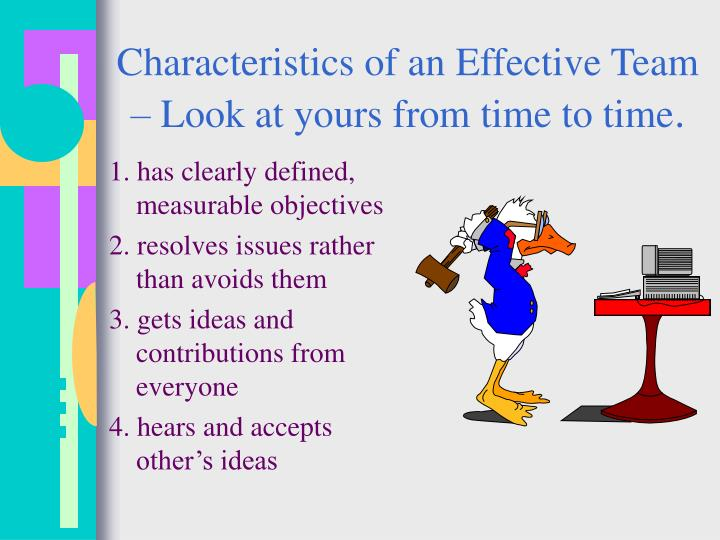 Characteristics of an Effective Team – Look at yours from time to time