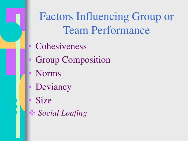 Factors Influencing Group or Team Performance