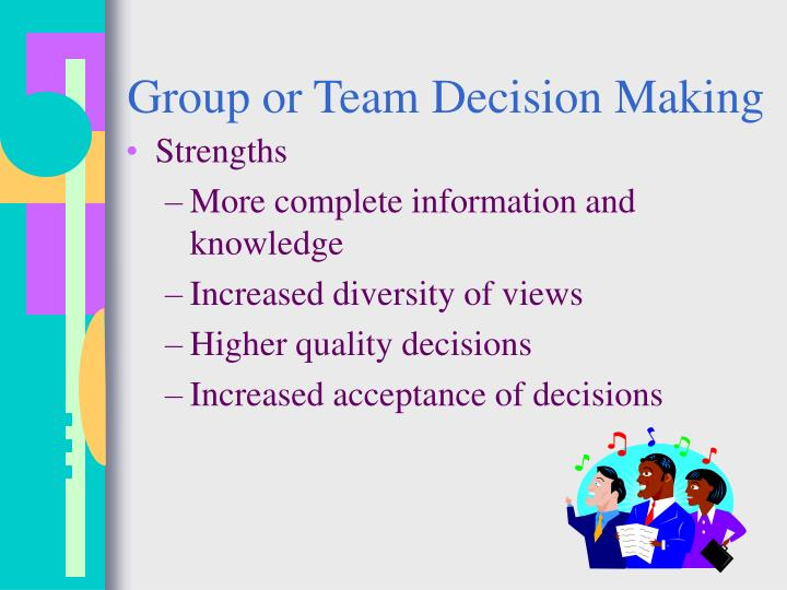 Group or Team Decision Making